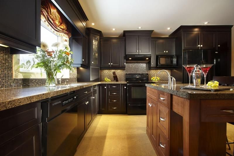 21 Dark Cabinet Kitchen Designs Divine Design Dark Kitchen