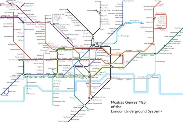 Music Genre Map Music Genres Tube Map   prints | publicgriefjunkie shop | Tube  Music Genre Map