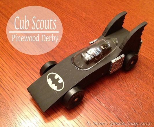 Pinewood Derby - Batmobile by MomsGonnaSnap