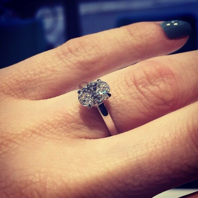 111ct oval D colour diamond in a classic solitaire platinum setting