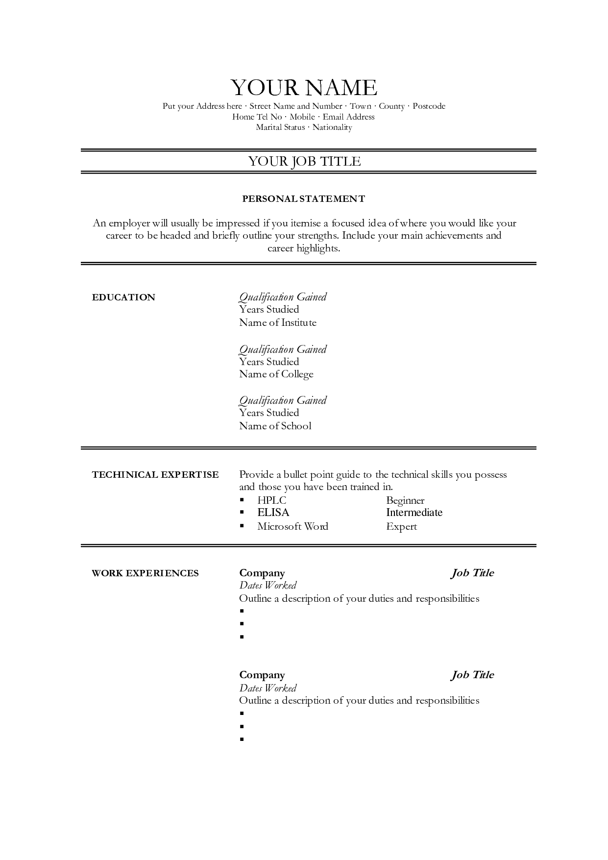 Pin By Resumejob On Resume Job Resume Sample Resume Job Resume