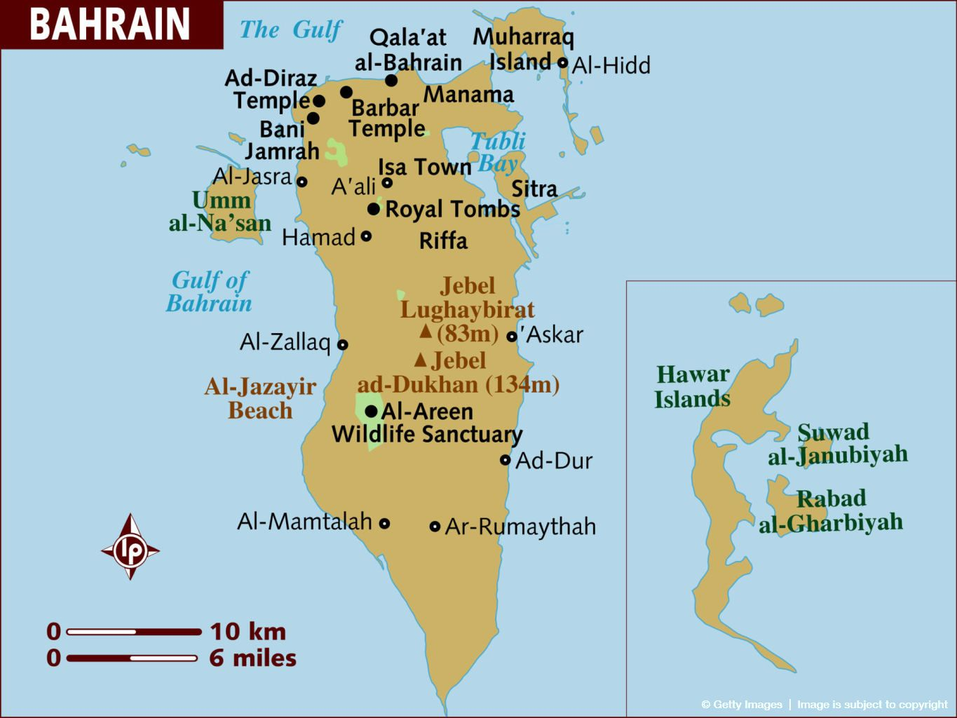 Map of Bahrain. | Pl