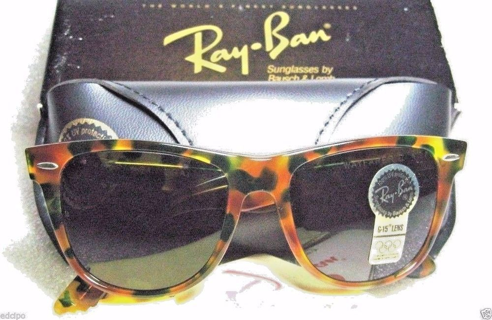 Ray Ban Nos Vintage B L Ltd Wayfarer Ii W1447 Green Tortoise New Sunglasses Sunglasses Tortoise Sunglasses Sunglasses Vintage