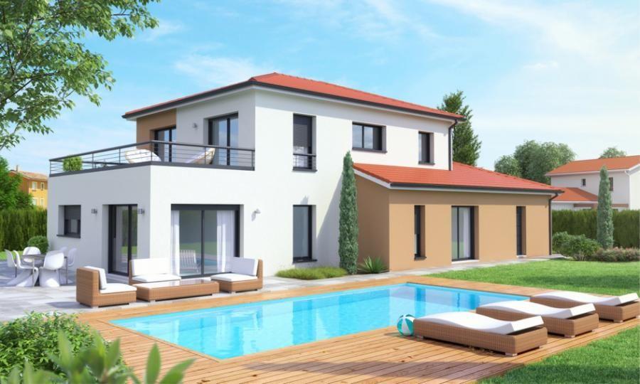 Villa elena tage contemporaine avec toiture terrasse accessible architecture toiture maison - Forme de toiture maison ...