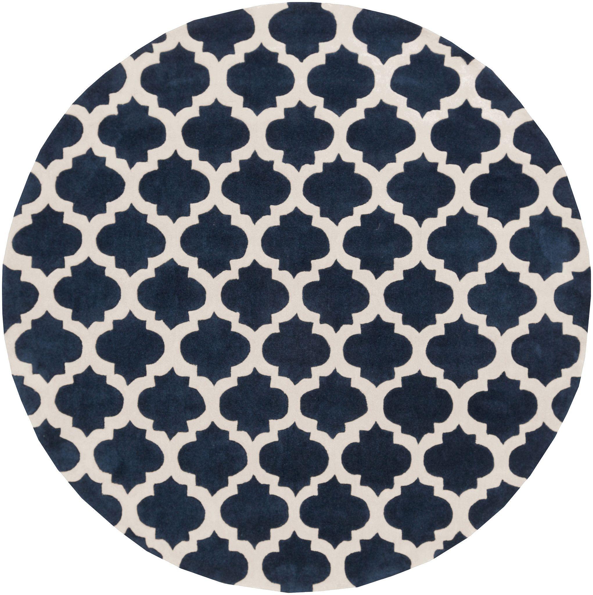 Surya Cos9226 Cosmopolitan Blue Round Area Rug