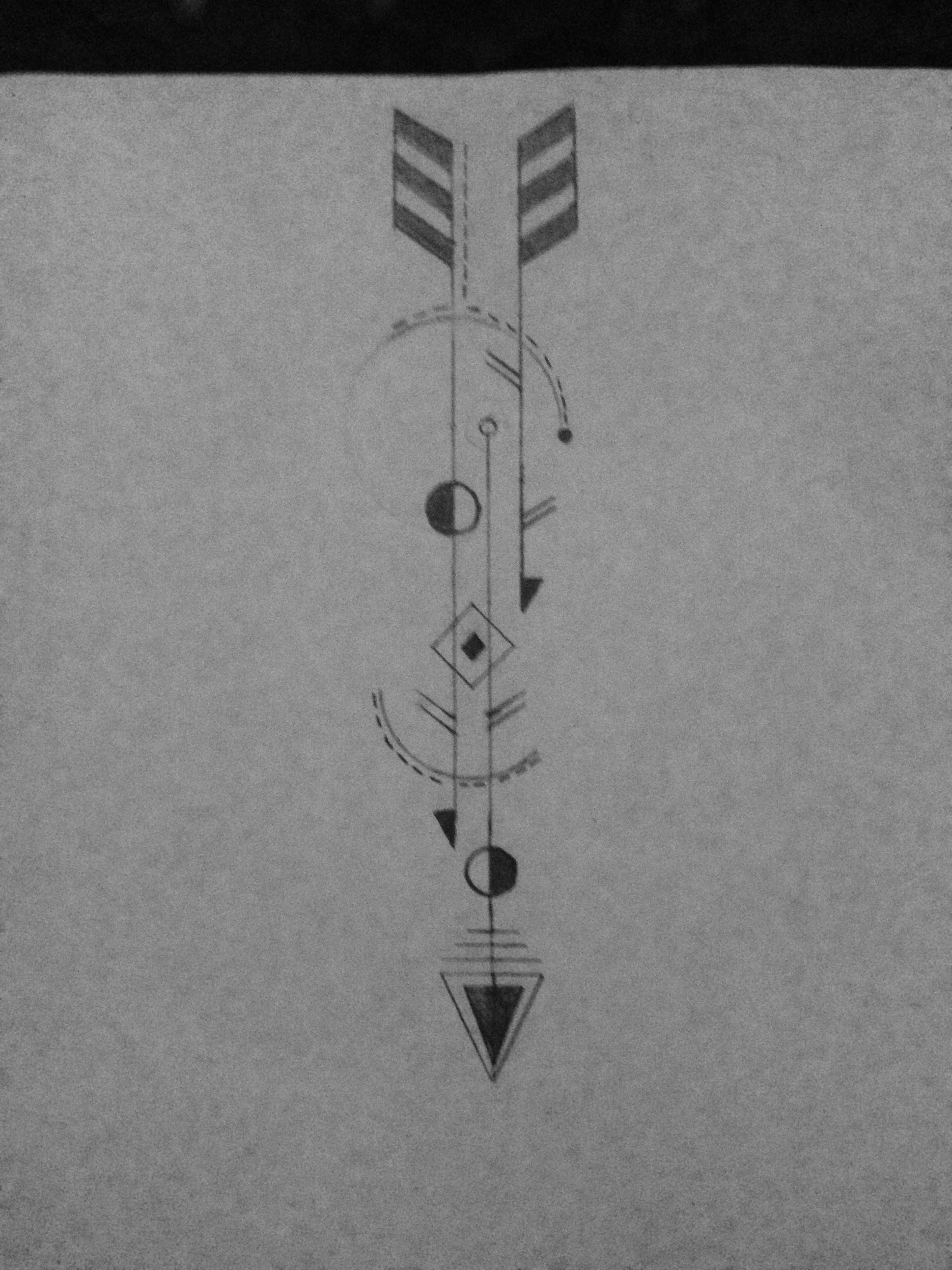 1Er Tatouage 1er dessin mon tatouage géométrique! tatouage dos homme! geometric