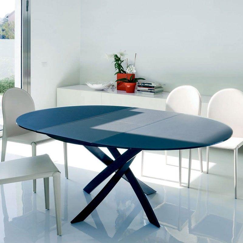 Bontempi Casa Barone Extending Table Round Dining Table Modern