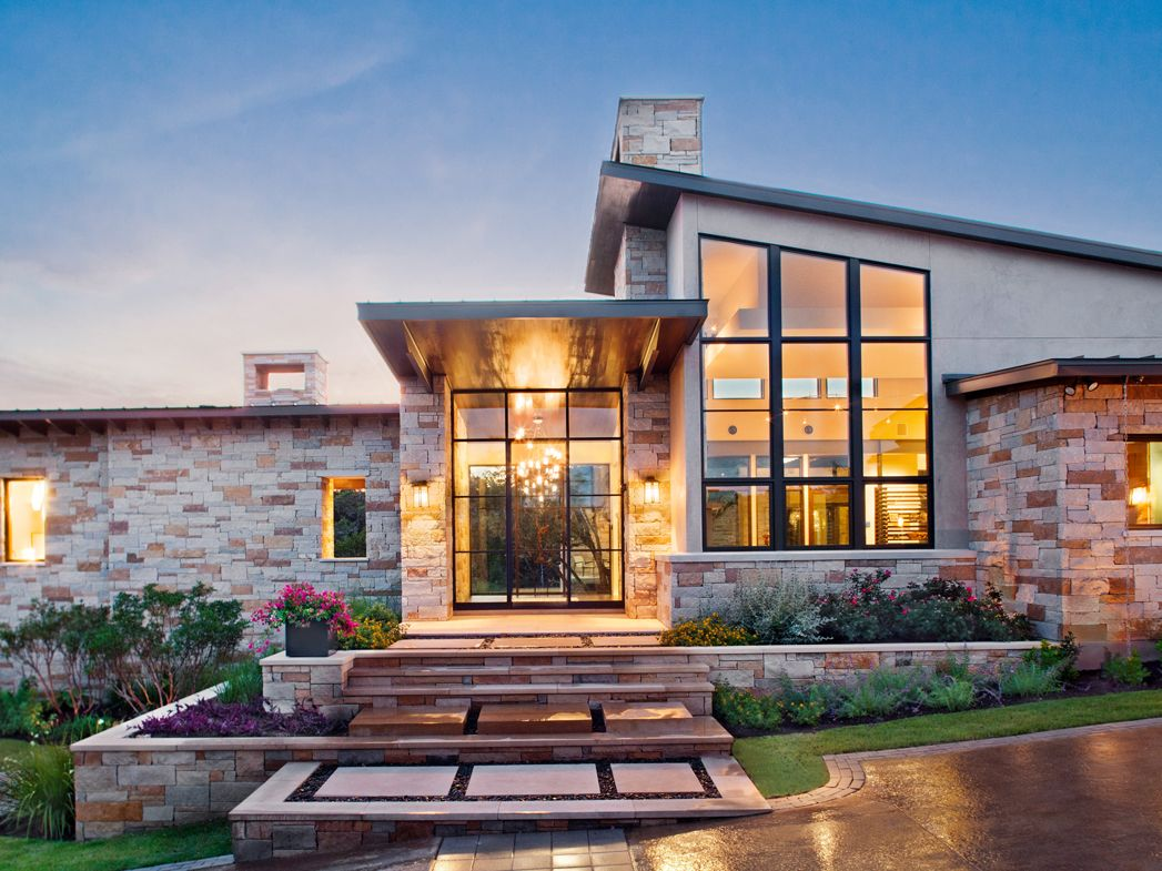 Spanish Oaks Contemporary House Front Exterior Paula