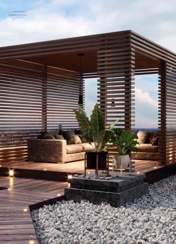 Beschattung Terrasse - #landscapedesigns | Modern pergola ...