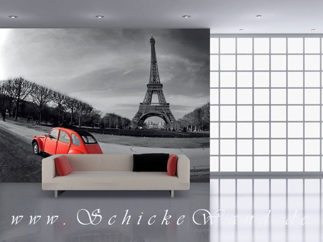 Popular Paris Eiffelturm elegantes Motiv f r Wohnzimmer Fototapete Poster Aufkleber Leinwandbild