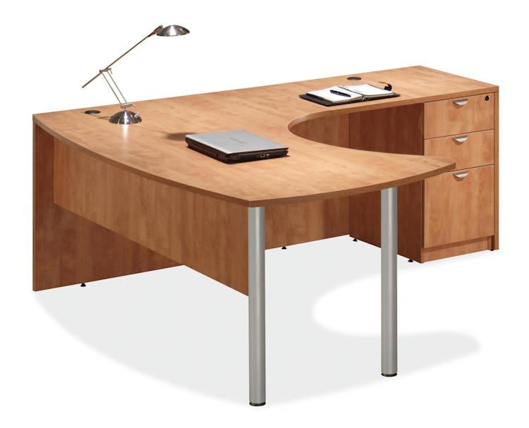Amazing Arc Top L Shaped Desk Honey   Right Return By Office Source   1 800