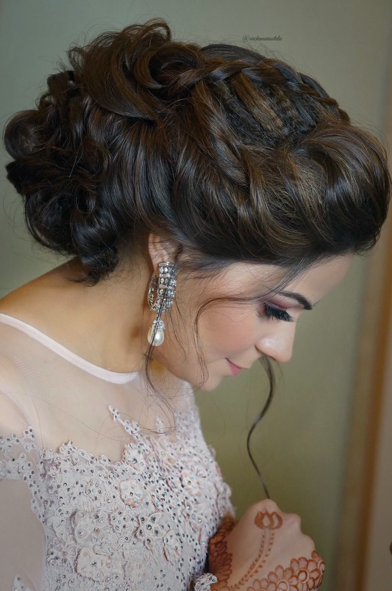 nidhi👰🏼💍 looking gorgeous with braided messy bun