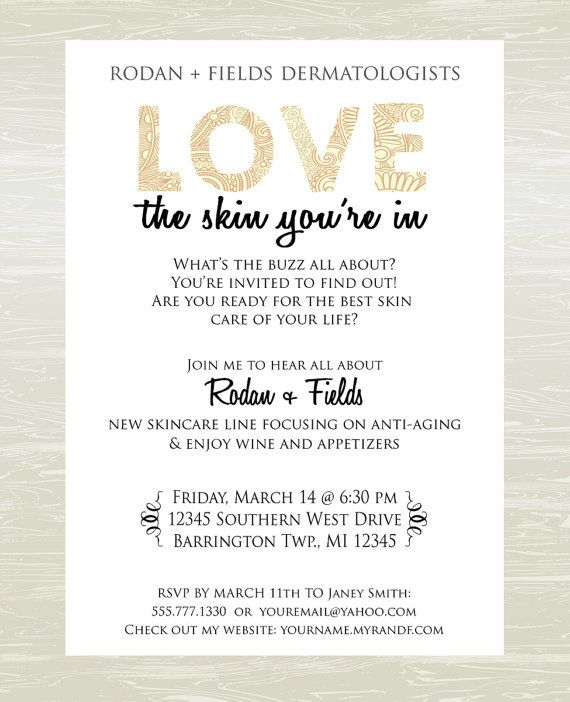 Skin Care Party Invite DIGITAL JPG ONLY by KatesKanvas on Etsy
