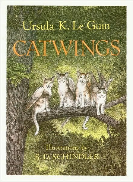 Joanne's Pick Catwings Four young cats with wings leave
