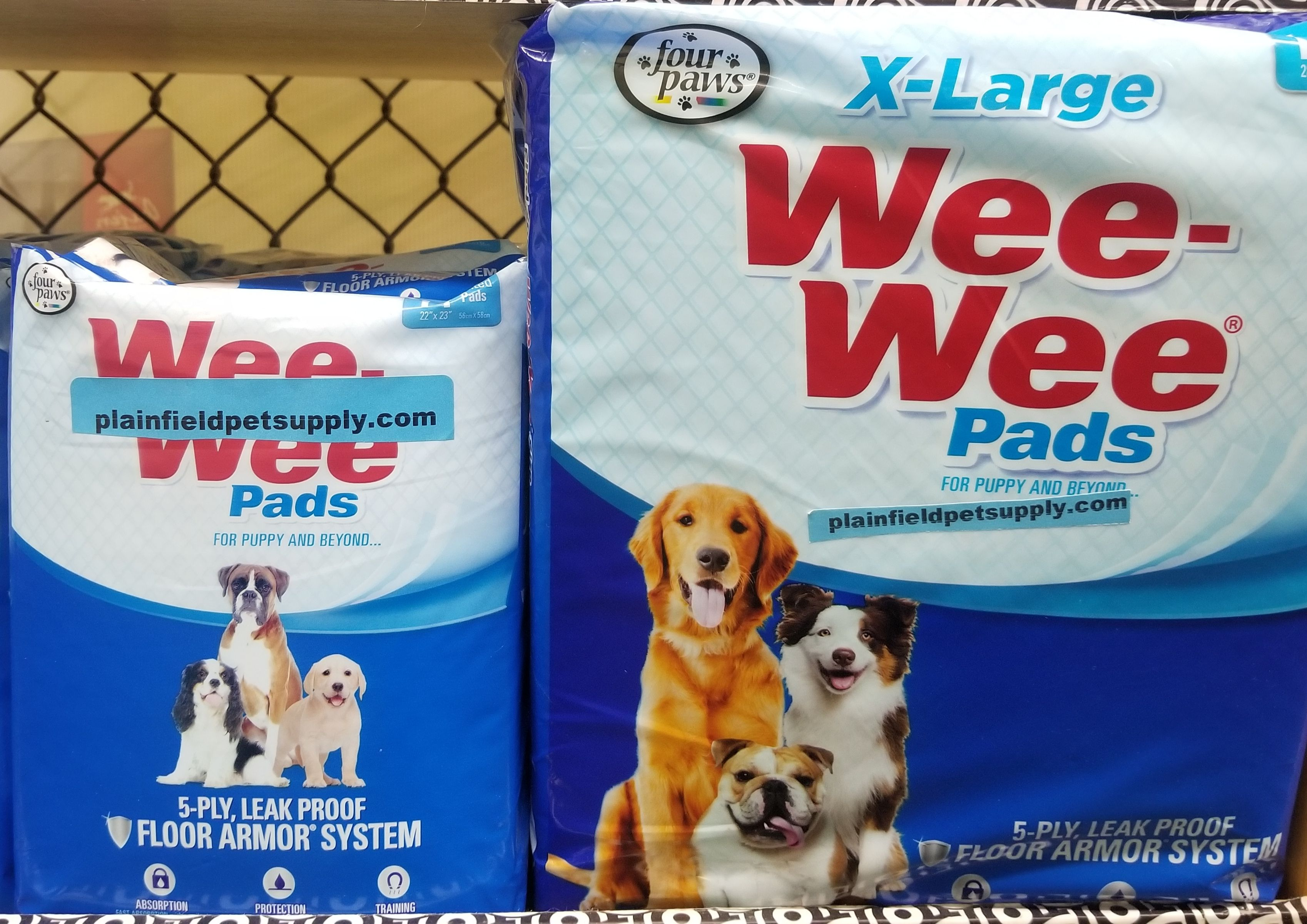 We Carry Weewee Pads Available In Regular Or Xl Open Today 8am To 6pm 815 609 1821 Www Plainfieldpetsupply Com Wee Wee Pads Pet Supplies Puppies