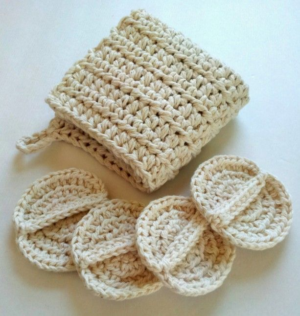 Wash cloth and scrubby set, spa set, crochet spa set, oil cleansing ...