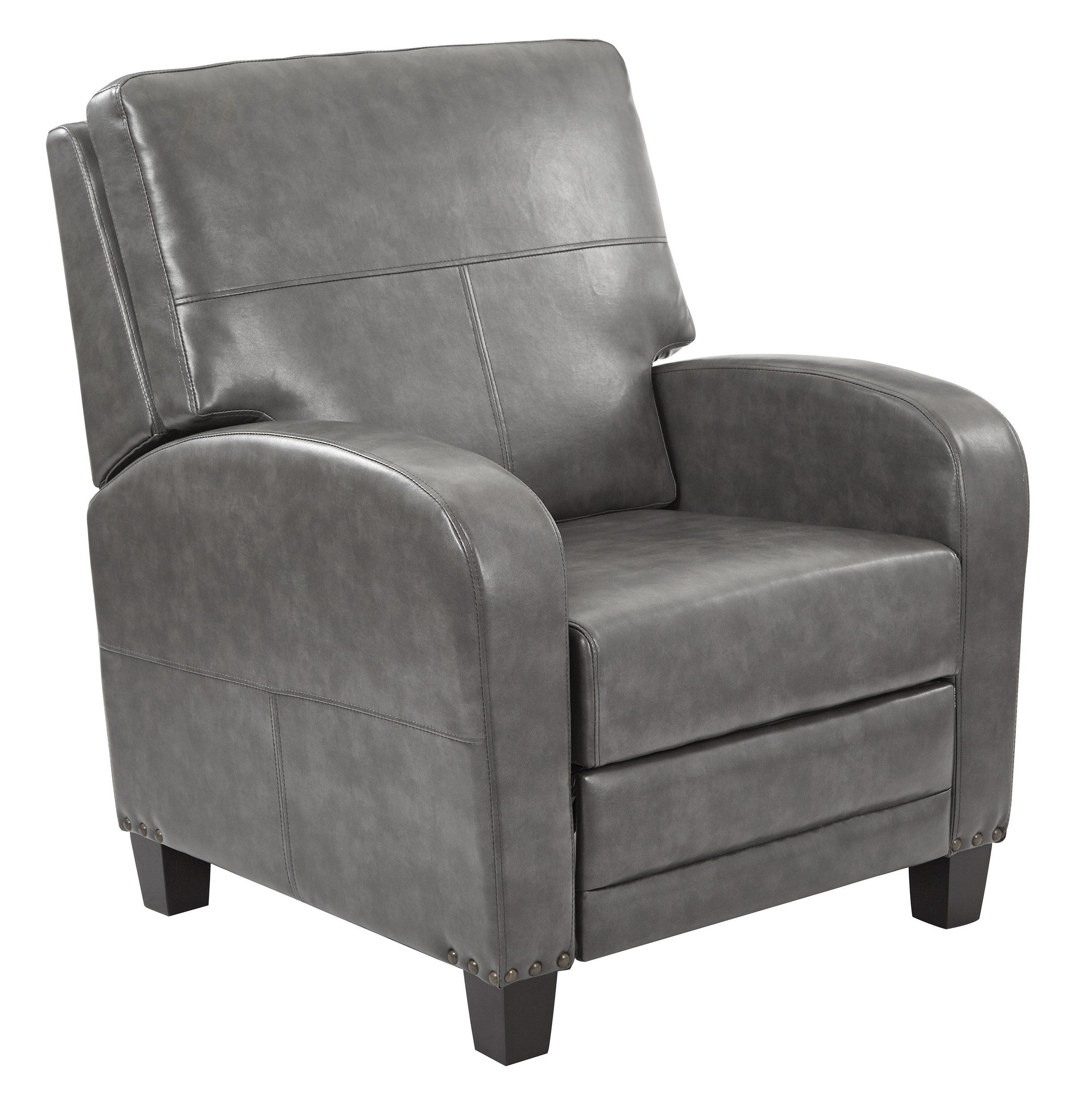 Office star pewter wellington recliner