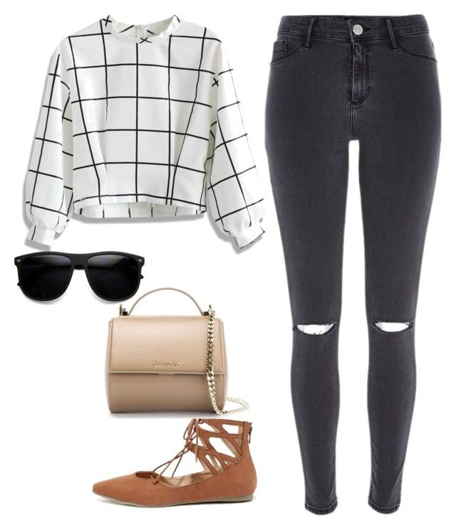 """""""Untitled #2175"""" by caffeinatedfashionista on Polyvore featuring River Island, Chicwish, Liliana and Givenchy"""