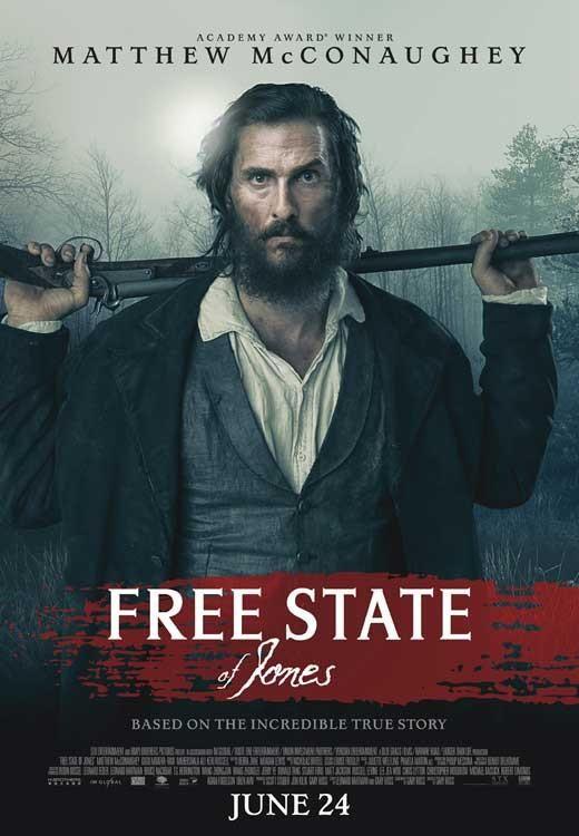 Free State Of Jones 2016 11x17 Movie Poster Filmes Filmes De