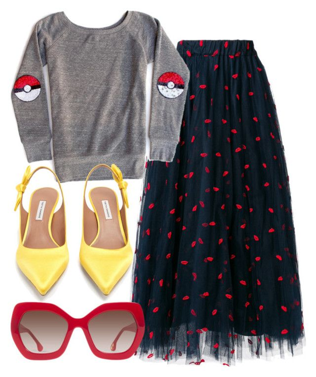 """Catch Them All"" by fashionforwarded ❤ liked on Polyvore featuring P.A.R.O.S.H., Tabitha Simmons and Alice + Olivia"