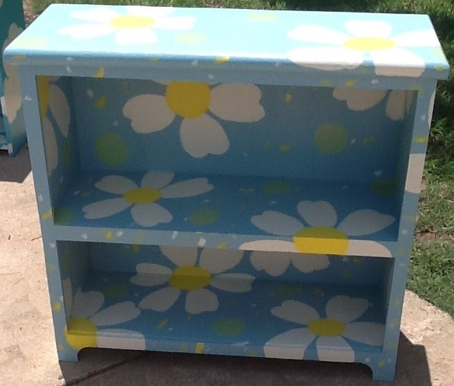 Hand painted Daisy Book Shelf $125 SOLD