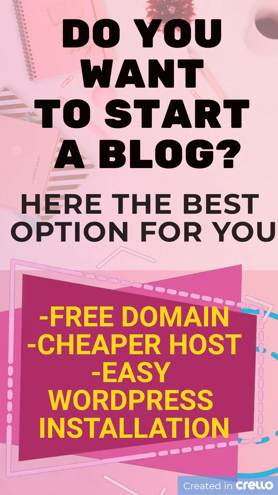 Start your blog and your Smart Passive Income now!