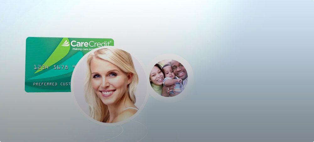 Healthcare financing credit card dental health care