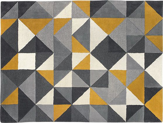 Henrik Large Hand Tufted Wool Rug 160 X 230m Mustard And Grey From Made Com Yellow Grey Henrik A Rug That S As Much A Piece Yellow Rug Mustard Rug Wool Rug