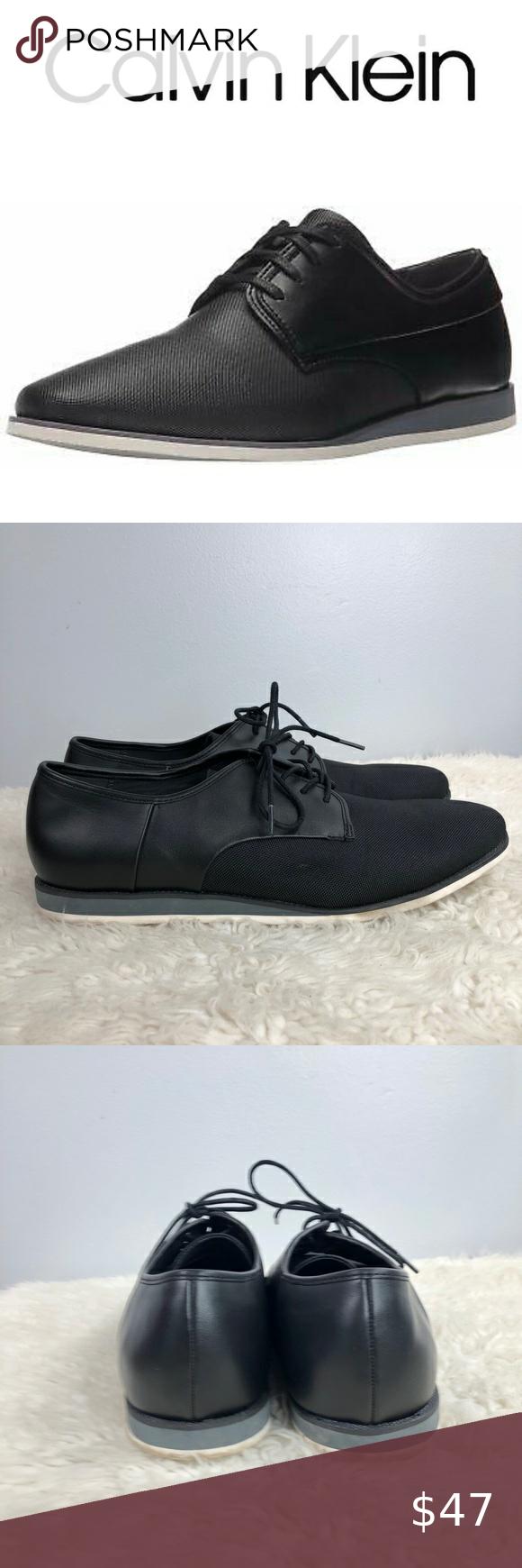 Calvin Klein Black Kadon Oxford Shoes Size 12 Calvin Klein Black Oxford Shoes Calvin Klein Shoes [ 1740 x 580 Pixel ]