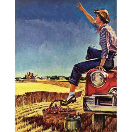 Marmont Hill Picnic-Ready Painting Print on Canvas, Multicolor