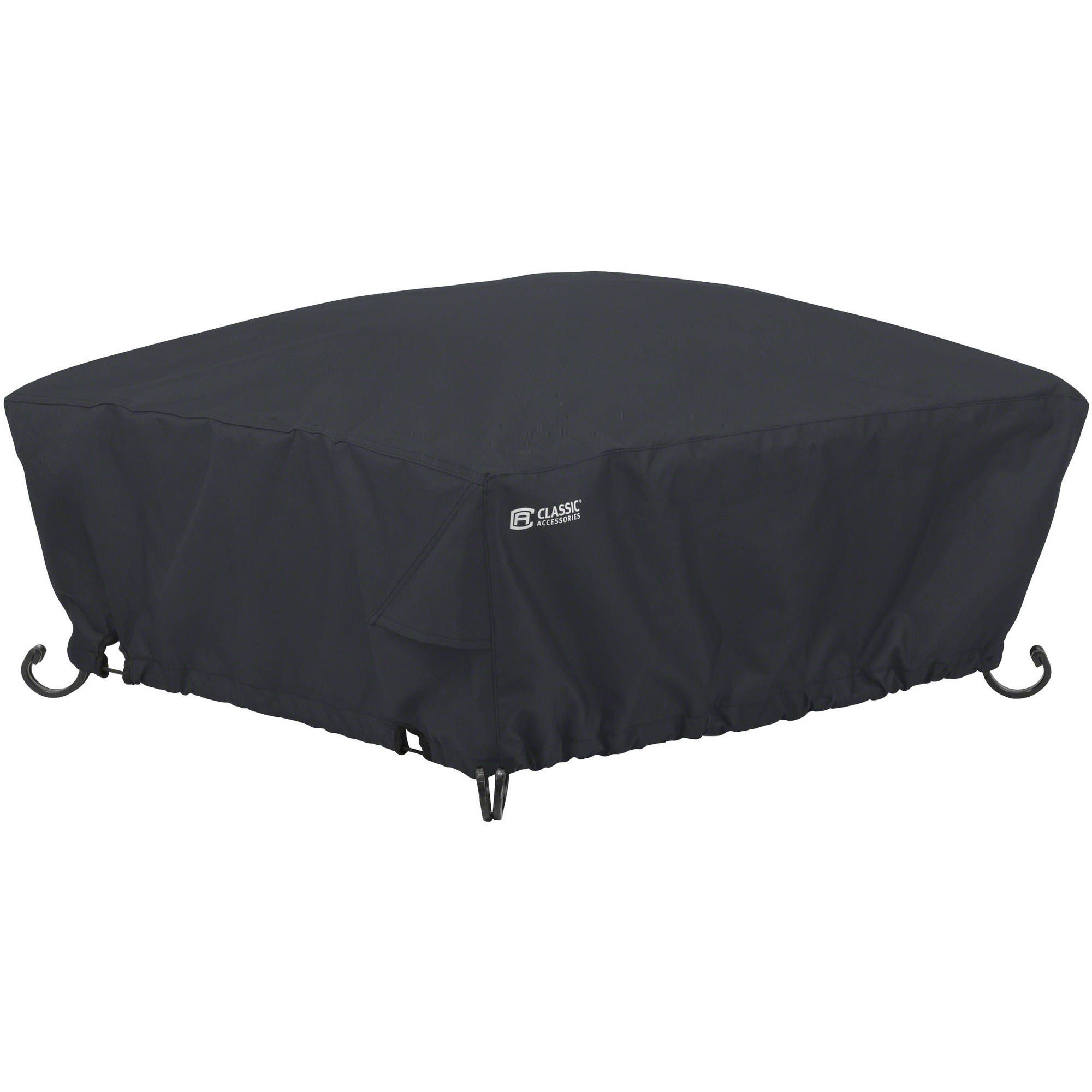 Classic Accessories Water Resistant 30 Inch Square Fire Pit Cover Walmart Com In 2020 Square Fire Pit Cover Round Fire Pit Cover Fire Pit Cover