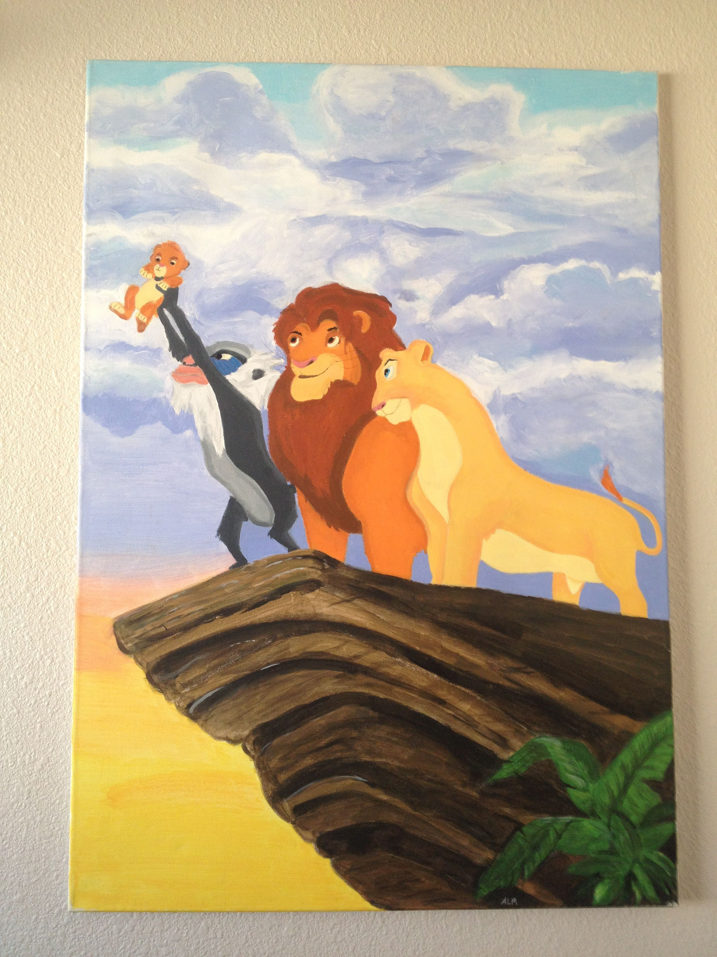 Custom Canvas Painting From The Lion King Painted For My