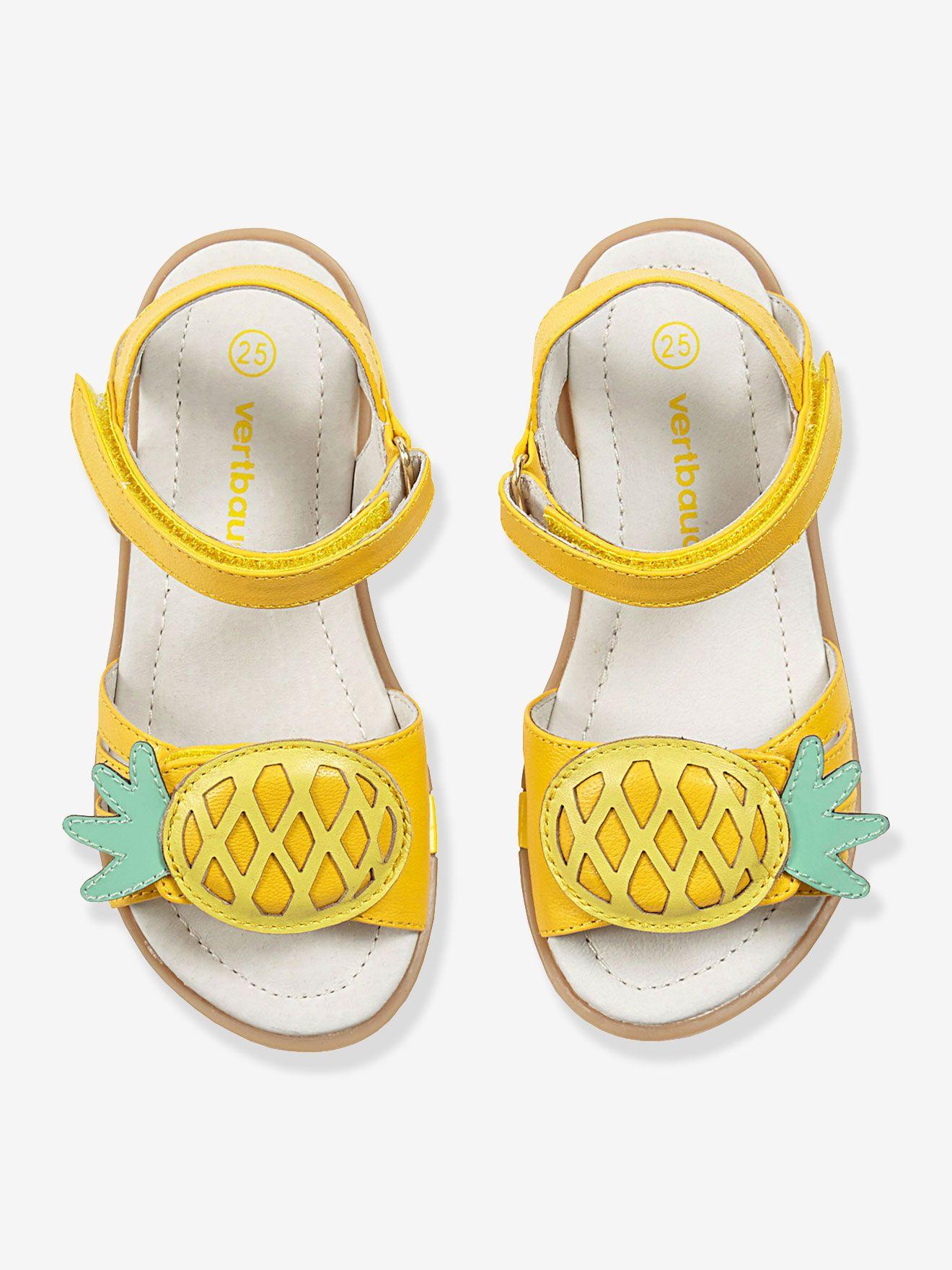 c4ddddd2487 Sandales cuir fille spécial maternelle jaune - Vertbaudet. Sandales cuir  fille spécial maternelle jaune - Vertbaudet Calçados Para Bebe ...