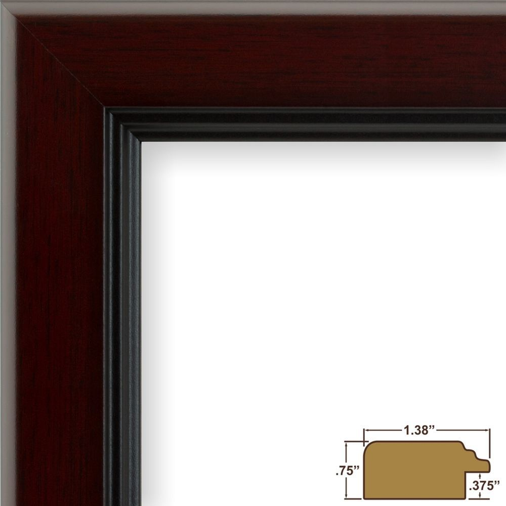 Craig Frames Mossehaus, Contemporary Mahogany Red Picture Frame ...