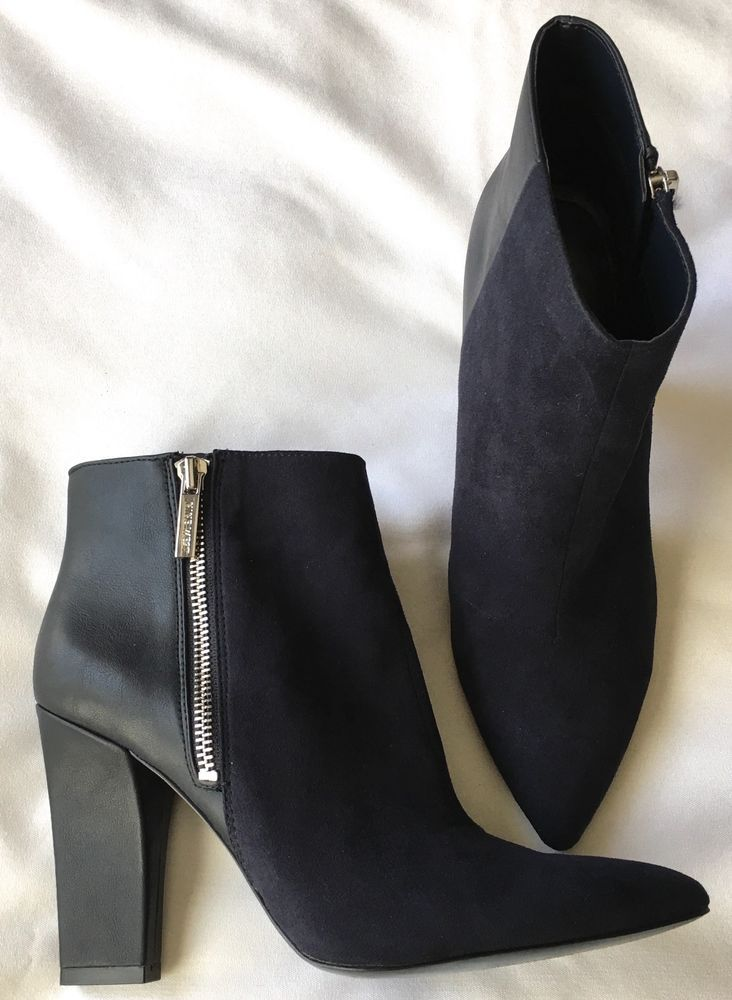 4f7098502f7a Nine West  Blushing  Navy BLUE Suede Premium Leather Ankle Boots Booties Sz  7.5  NineWest  AnkleBoots  SpecialOccasion