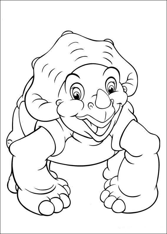 The Land Before Time Coloring pages for kids. Printable. Online ...