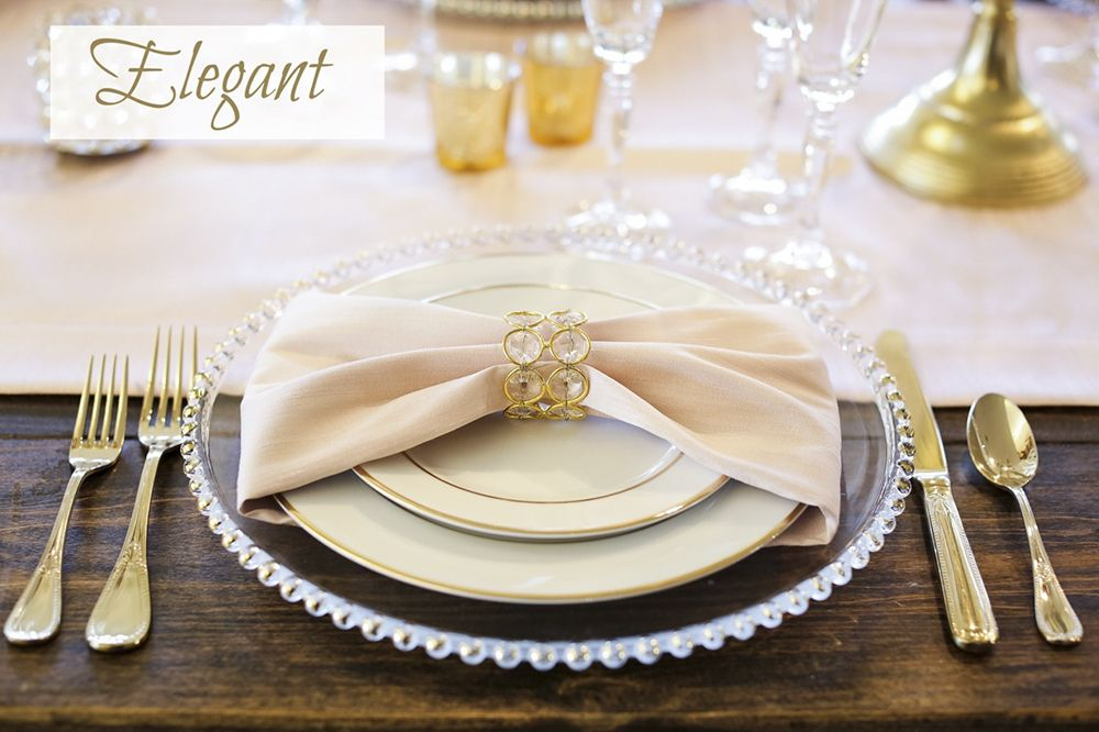 Whether You Like A Modern, Clean Look Or Something More Frilly And Fancy.  Your Table And Place Setting Design Reflects Your Style!