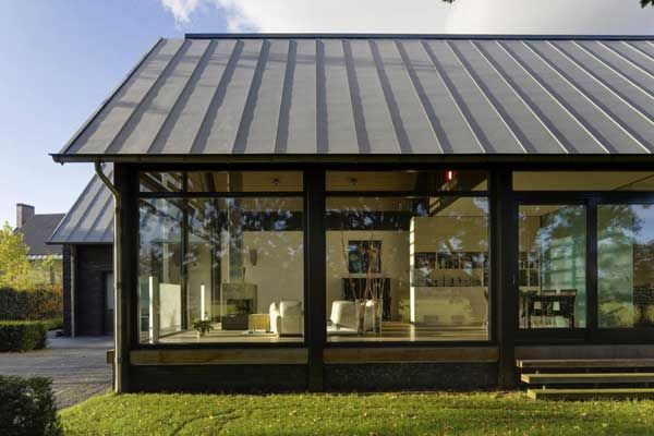 Four Residential Volumes Gathered Under One Name Farmyard Freshome Com Glass House Design Architecture Exterior Design