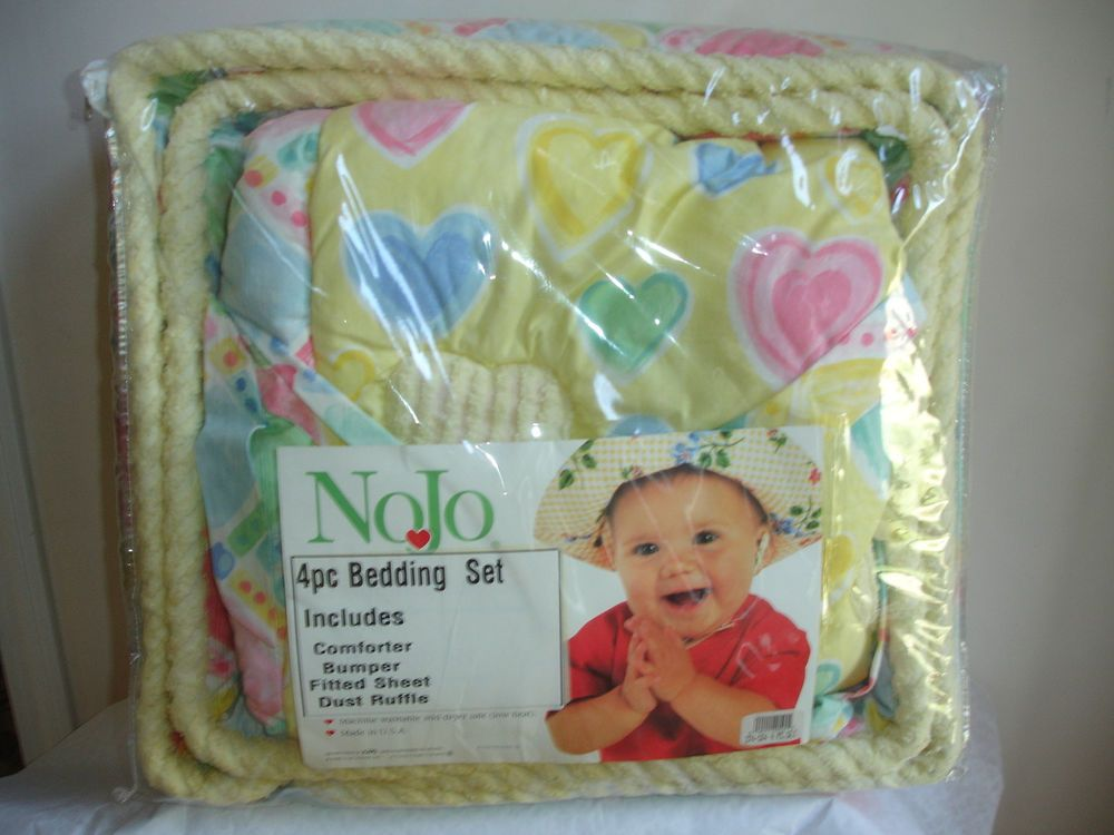 New Nojo 4 Pc Comforter Set Bedding Baby Crib Bumper