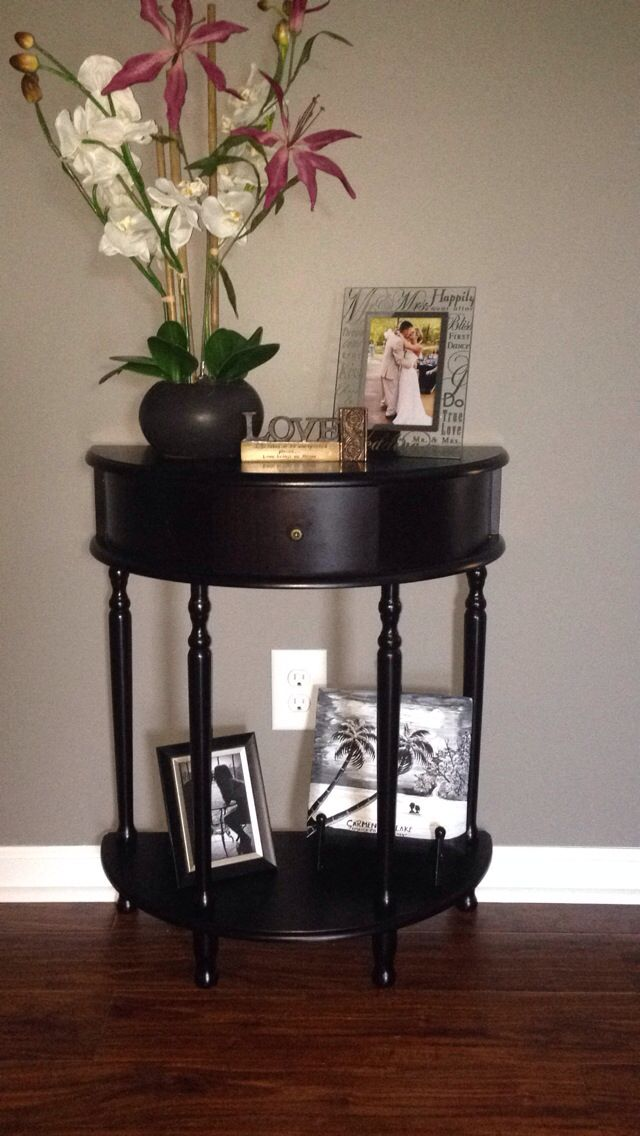 My Half Moon Table Finally Got It And Decorated It Just Need A