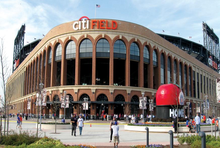 Citi Field with Shea Stadium's Home Run Apple Yankee