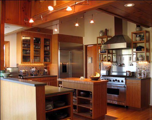 modern house: Bamboo kitchen