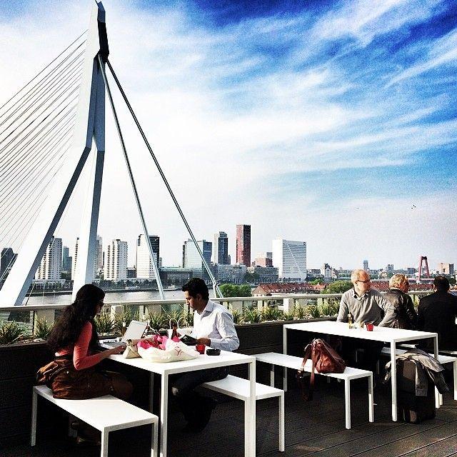 "@Vincent Taapken's photo: ""Springtime at @nhow Rotterdam skyline roofterrace"""