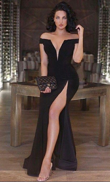 Pin By Michael Rosado On Milf Dresses Black Prom