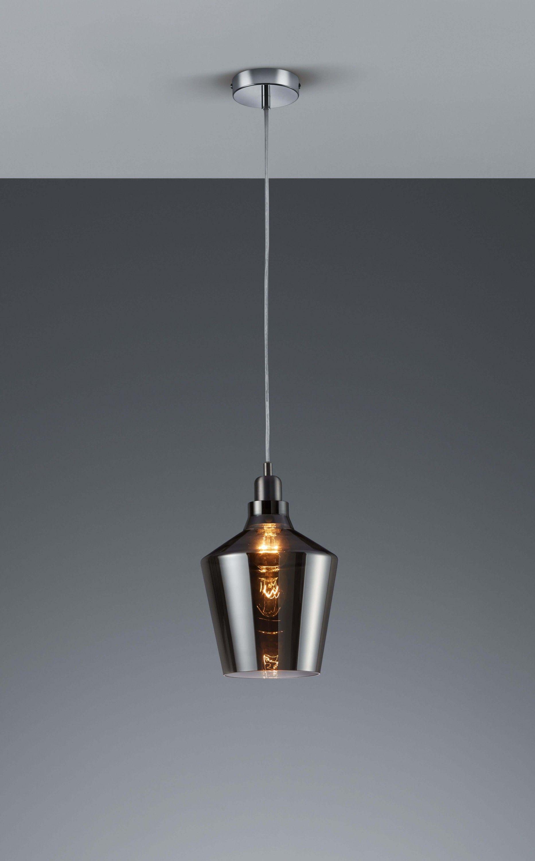 Pendelleuchte CALAIS Aluminiumfarbig | Retro, Glas und Leuchten