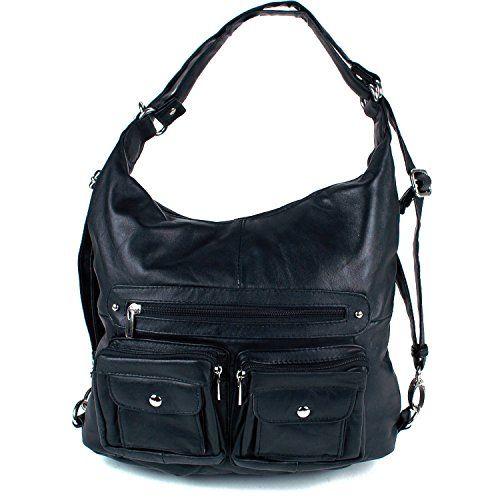 Women s All In One Backpack Shoulder Bag Cross Body Purse Black SBR Designs  http   66521bdf80672
