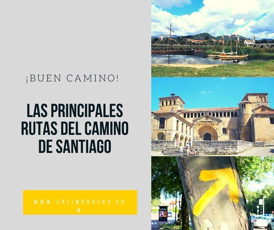 Las Principales Rutas Del Camino De Santiago Camino De Santiago Rutas Santiago De Compostela