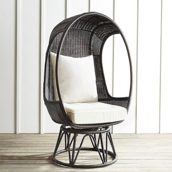 Pier 1 Imports Mocha  Polyethylene Wicker Patio Dining Chair