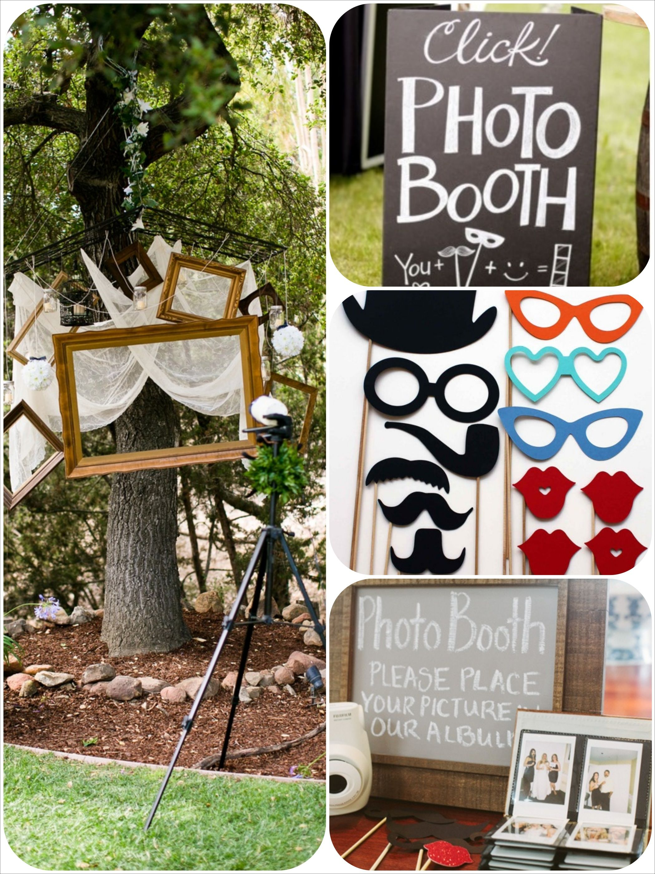 Captivating DIY Wedding Booth