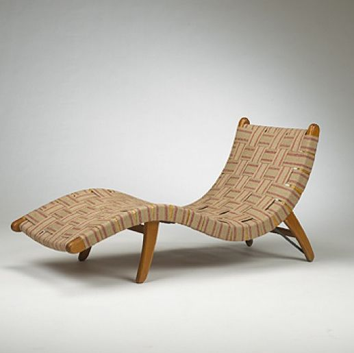 Van Buren Grabe And Webb Adjustable Chaise Lounge For The Organic Design Competition Mexico 1940 Primavera Organic Design Chaise Lounge Organic Furniture